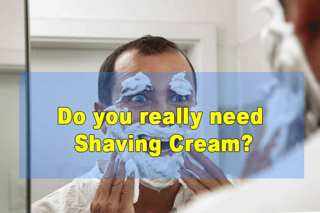 Can you use shaving cream with an electric razor?