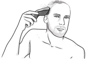 The best time to shave your head with razor is after the shower when your hair is softer.